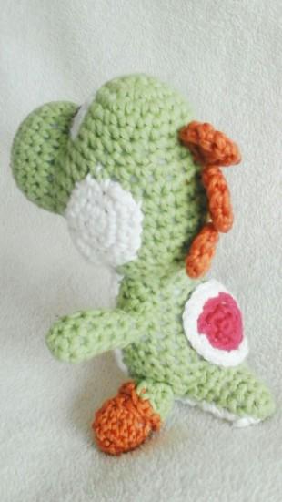 Crocheted Yoshi Amigurumi Toy