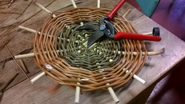 Basket Making; the completed base
