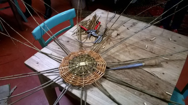 Basket Making; inserting uprights