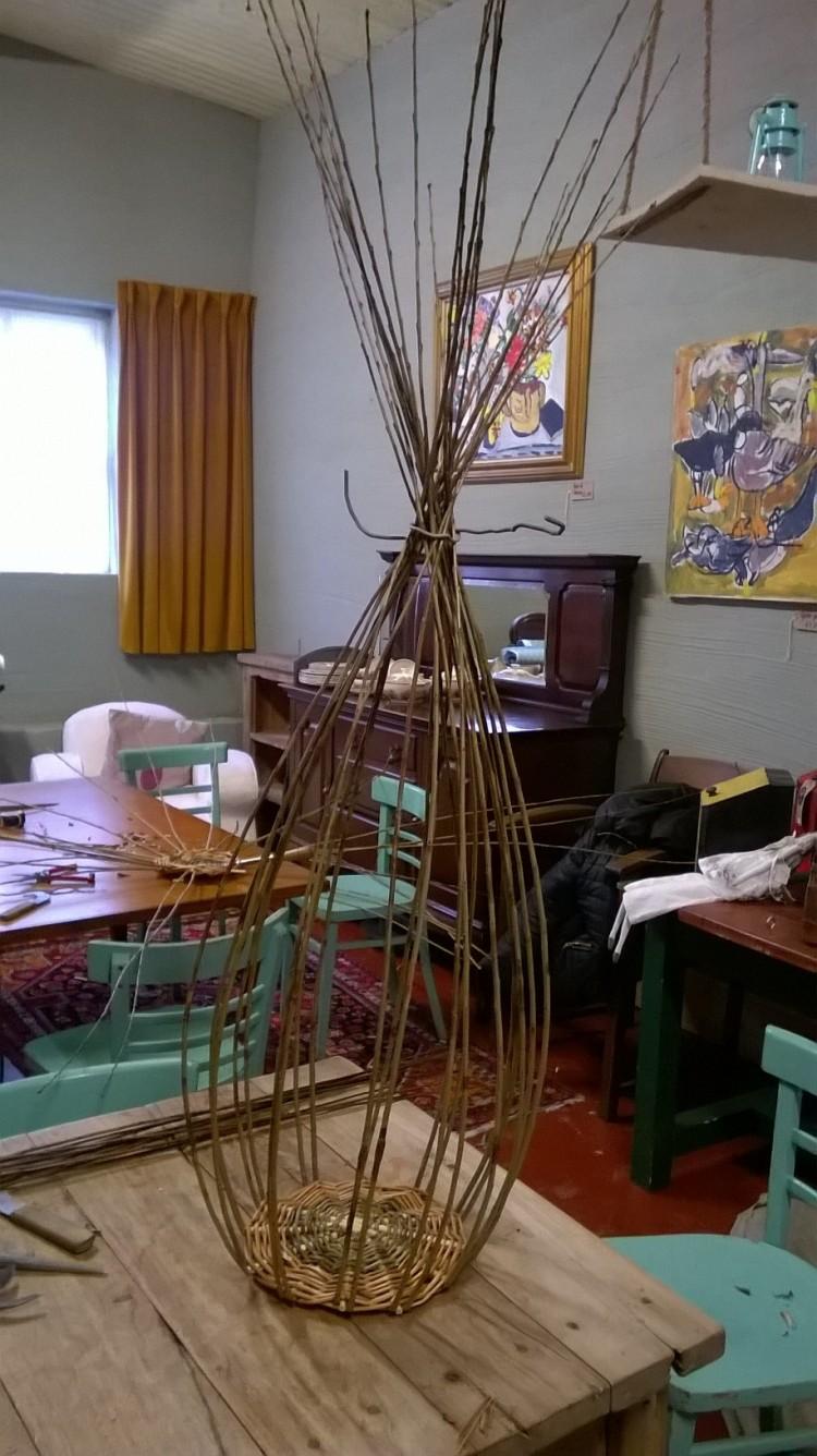 Basket Making; taking shape