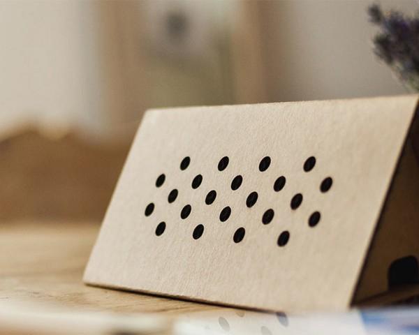 newfoldr cardboard speaker