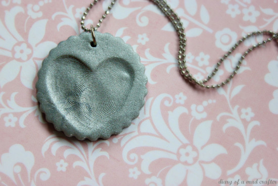 heat fingerprint necklace