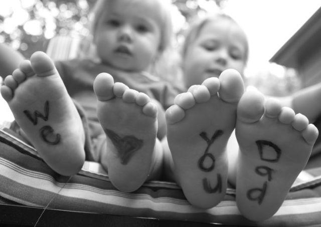 we love you dad feet photo