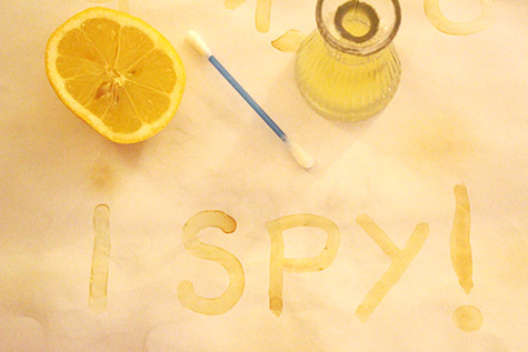 invisible lemon ink