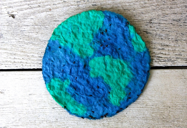 Plantable Paper Earth Seed Disk
