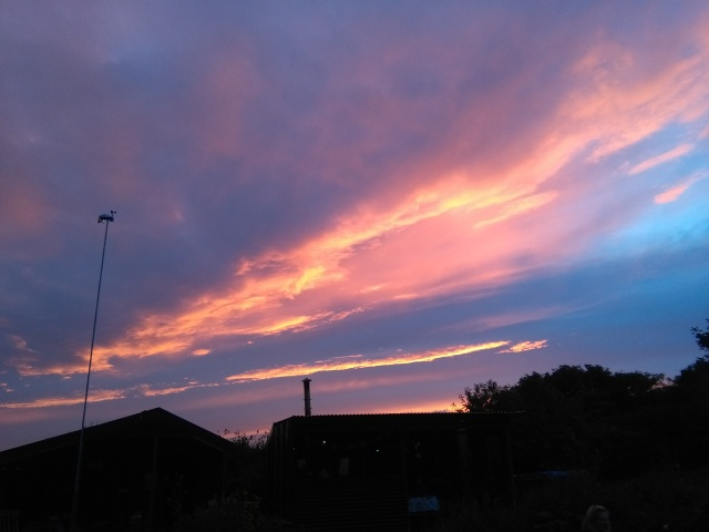 stunning sky from campsite