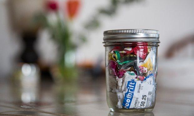 waste in a jar