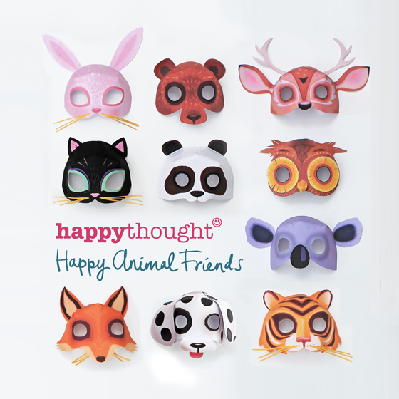 animal paper masks for kids
