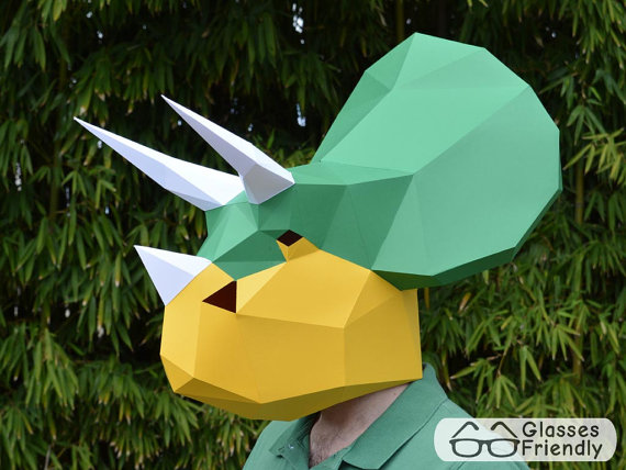 dinosaur paper mask