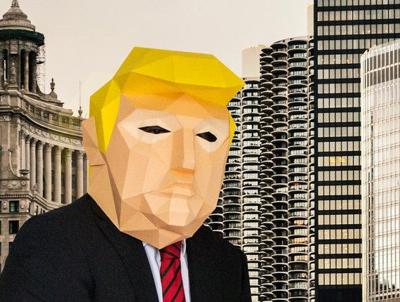 donal trump paper mask