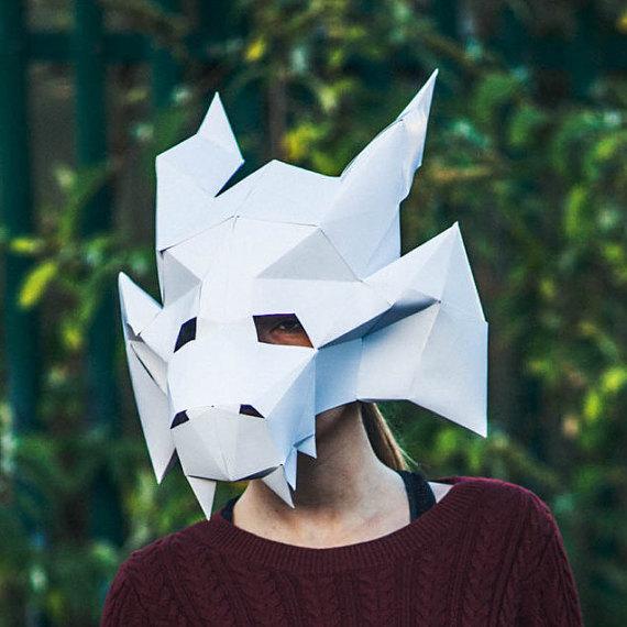 dragon paper mask