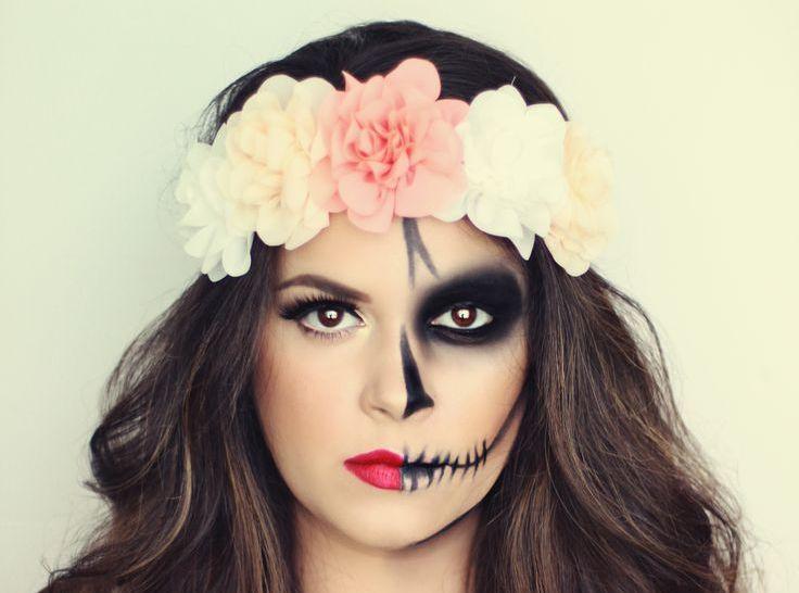half skeleton face