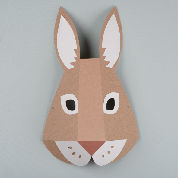 Hare paper mask