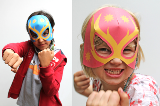 Lucha Libre paper masks for kids