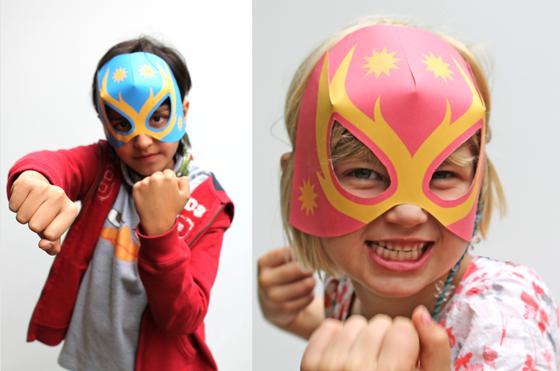 Lucha Libre paper masks for kids