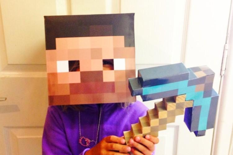 square minecraft mask