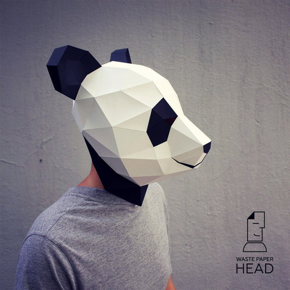 panda paper mask