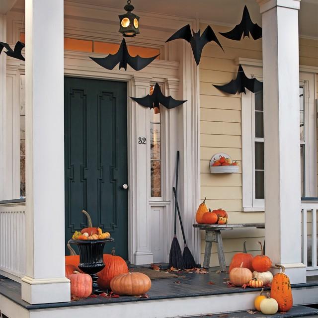 paper bats on porch