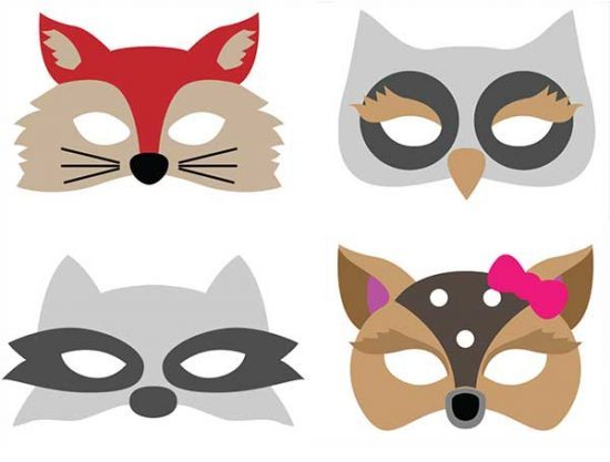 printable animal masks by Illi Style