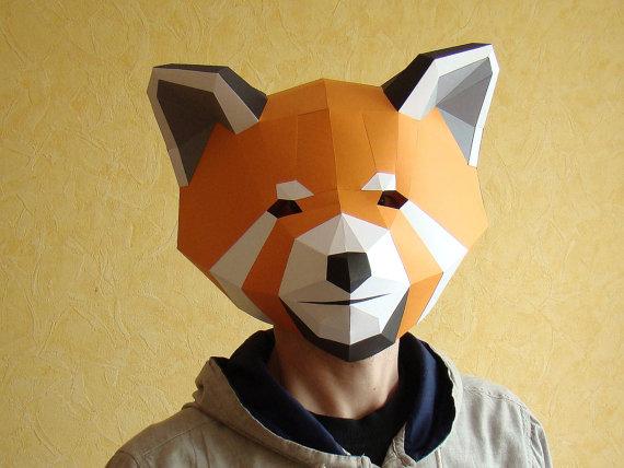 red panda paper mask