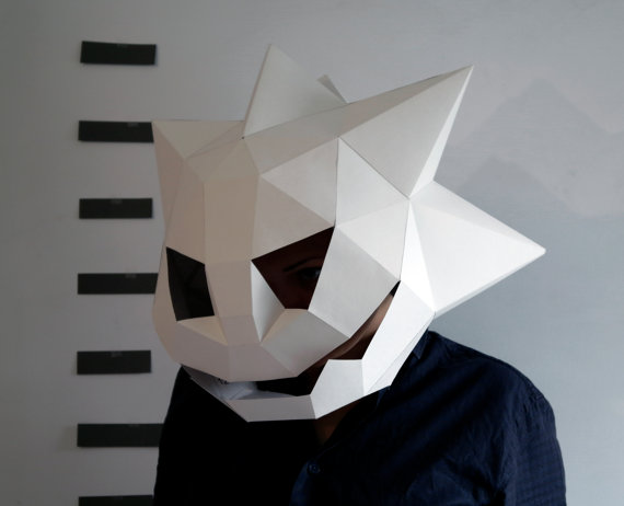 scary pumpkin paper mask