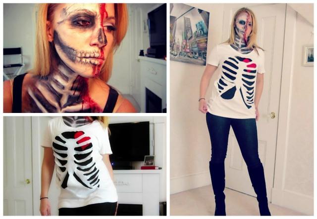 Skeleton Cut Out T-shirt