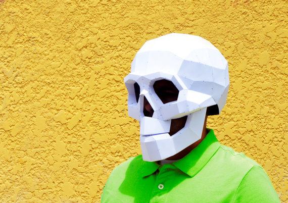 skull paper mask