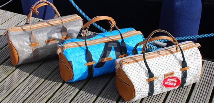 bags made from oil sails by mamukko