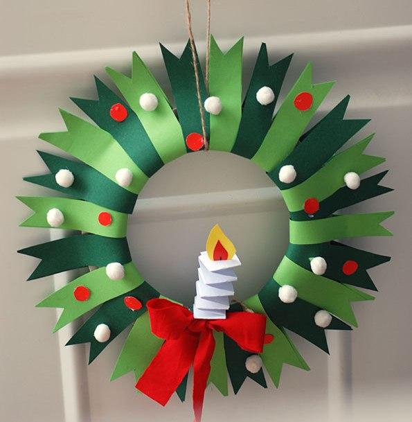paper wreath from Krokotak