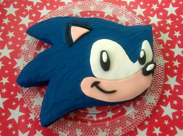 Sonic Birthday Cake Living Lightly In Ireland