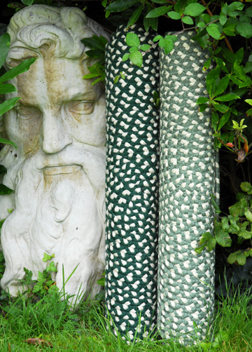 standard green braided rugs