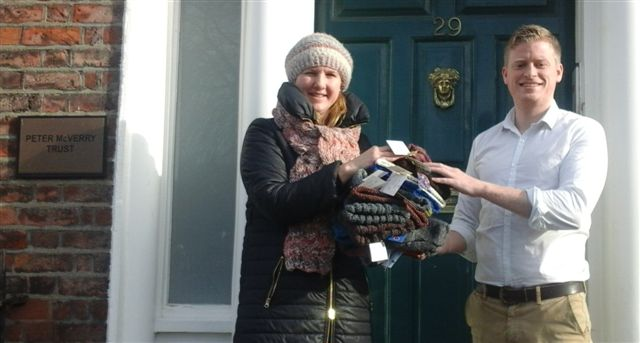 hats for homeless handover