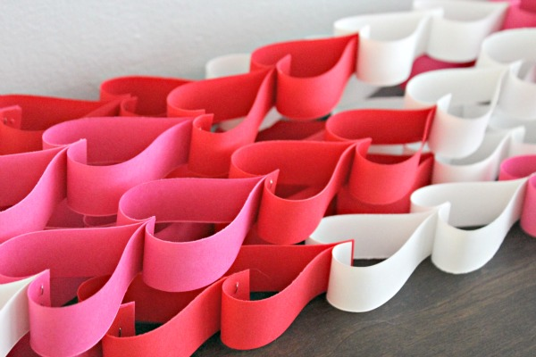 paper heart chain