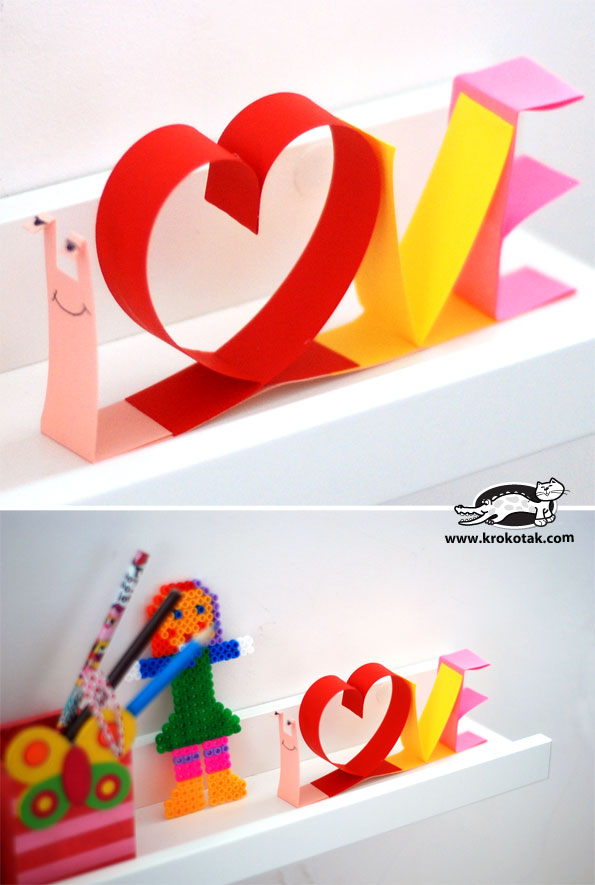 snail valentine card