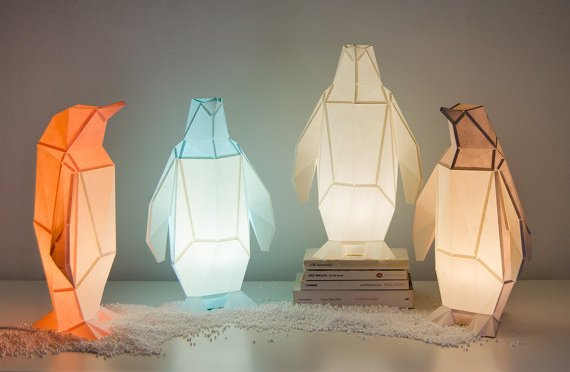 Penguin Paper Lamps