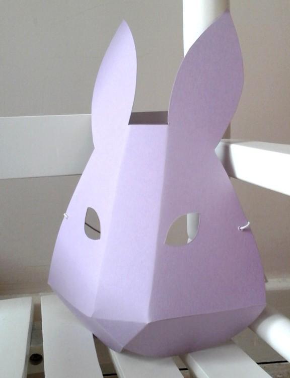 DIY paper bunny mask