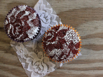 doily decorated cupcake