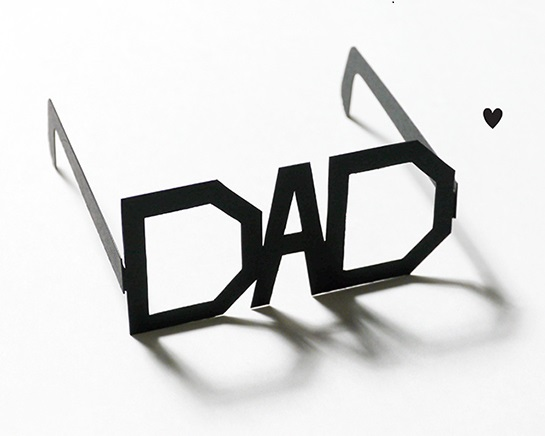 Fathers Day Glasses Card