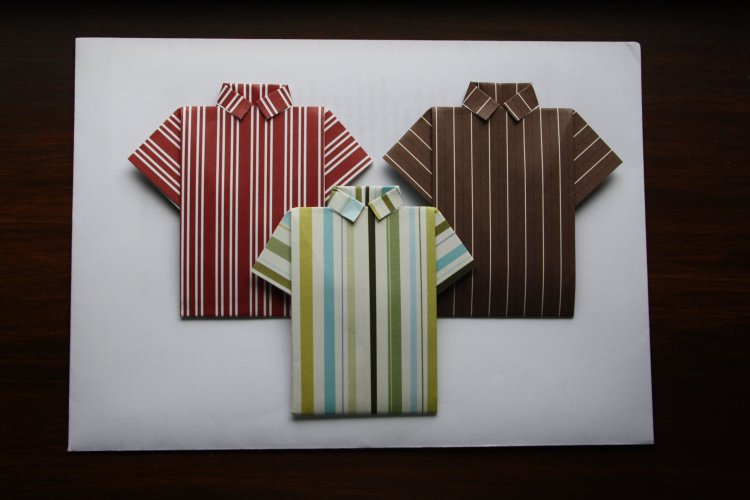 Fathers Day Origami Shirt Card