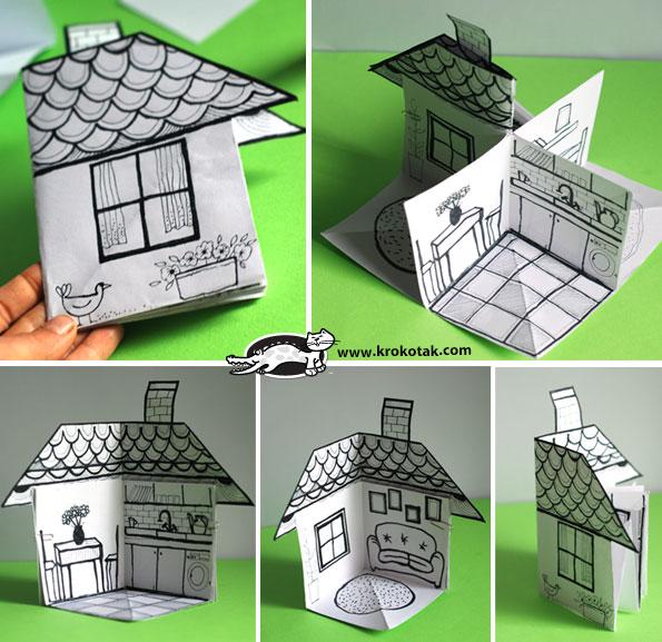 3D paper house