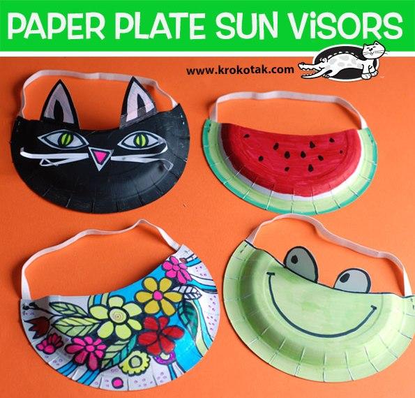 paper plate sun visors