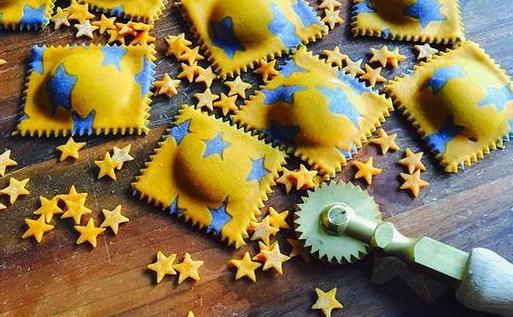 homemade star pasta by Salty Seattle