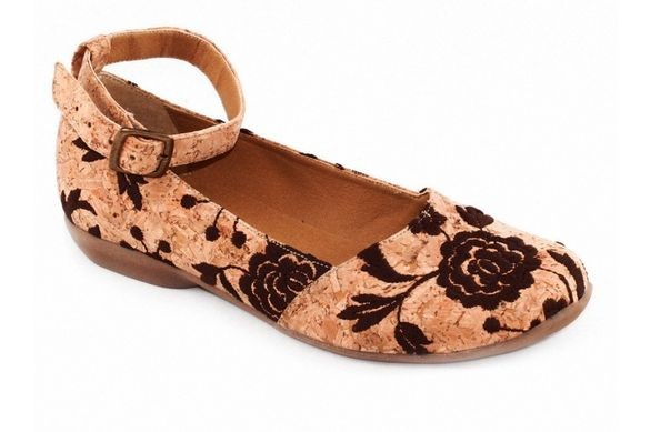 cork shoe with black decoration