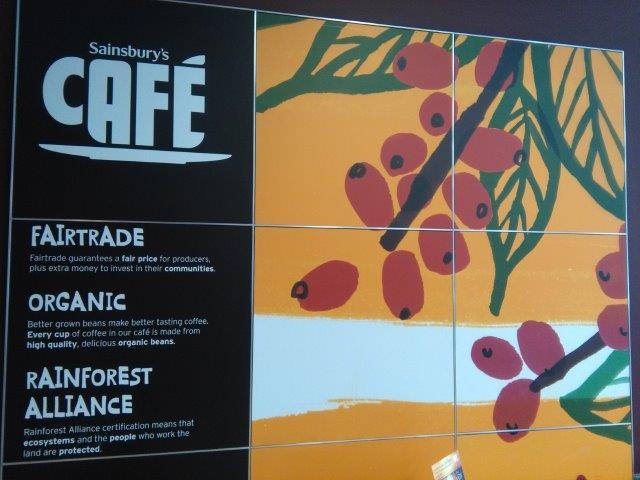Organic coffee in Sainsbury