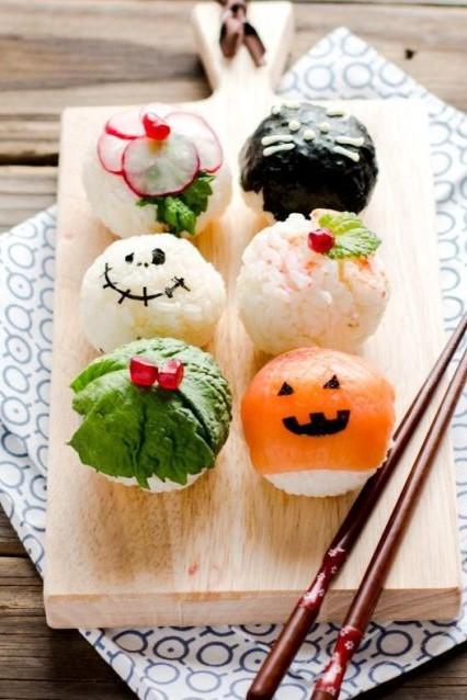 Halloween Sushi Balls