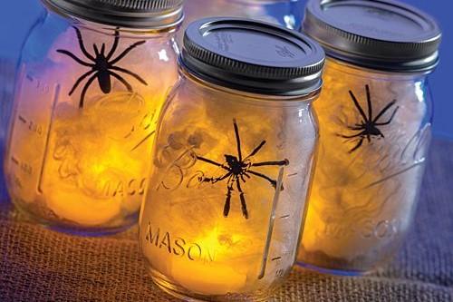 Illuminated Spider Jars