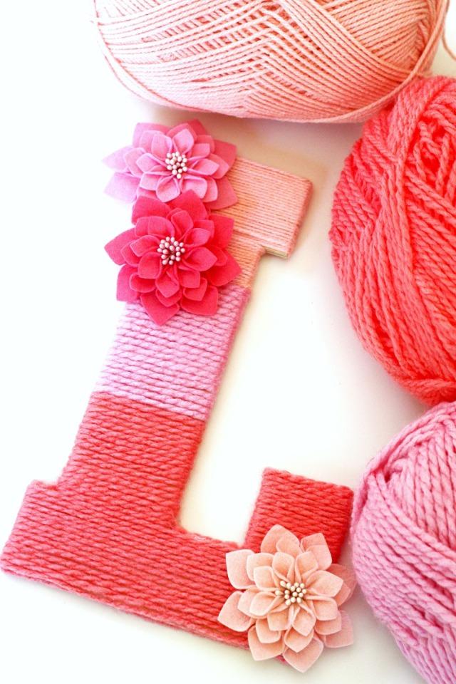 Ombre Yarn Letter