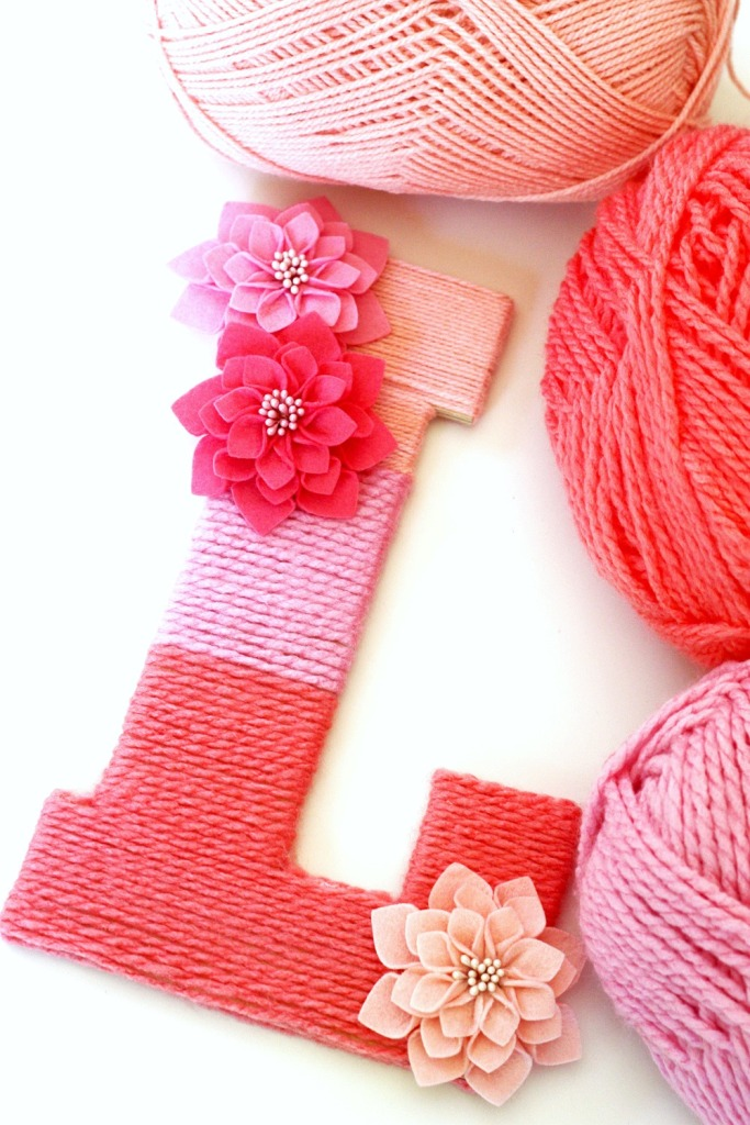 Ombre Yarn Letter