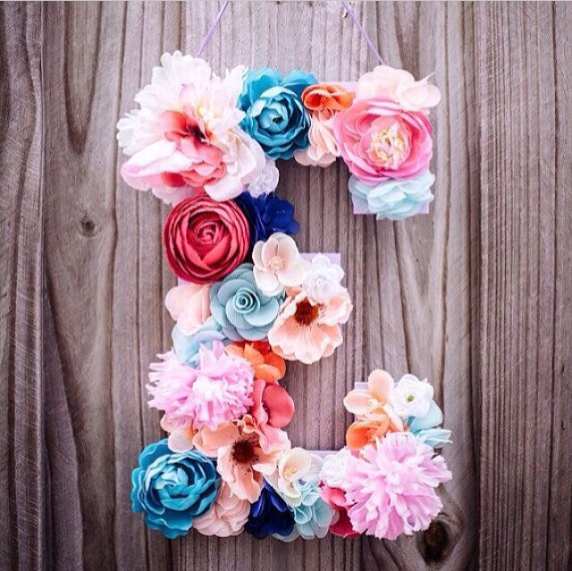 Flower Decorated Letter