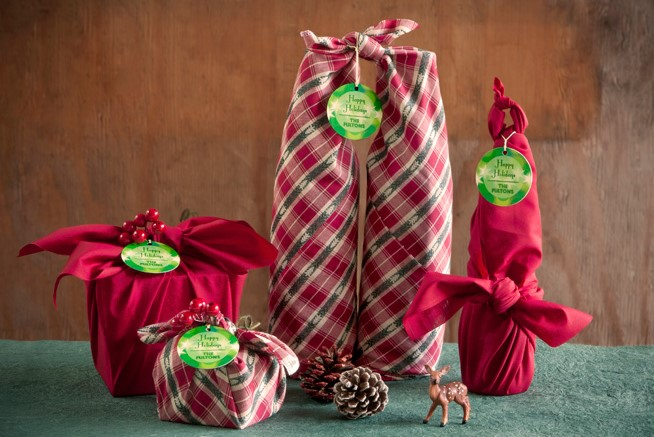 Furoshiki Wrapped Presents
